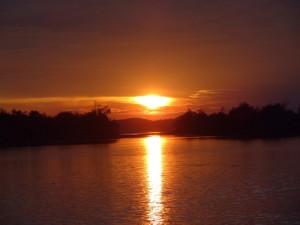 Abenddämmerung auf dem See